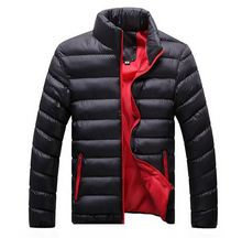 walson NEW Men's Winter Jacket Solid O-neck Slim Padded Waterproof Warm Coats Man Jackets Tops Size Plus M-3XL