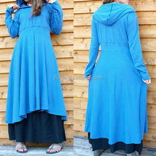 New Model 2014 Smart Dresses Women Coat Dress Cotton Long Hooded Dress L1681