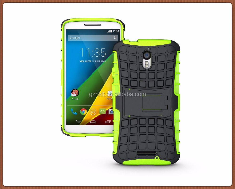 2 in 1Hybrid Hard pc tpu mobile phone case cover for Moto X Force/Droid Turbo 2