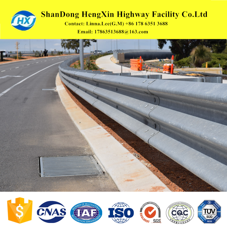 road safety crash barrier for highway and road