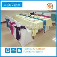 Cheap pictures of outdooor plastic folding dining catering table hangzhou