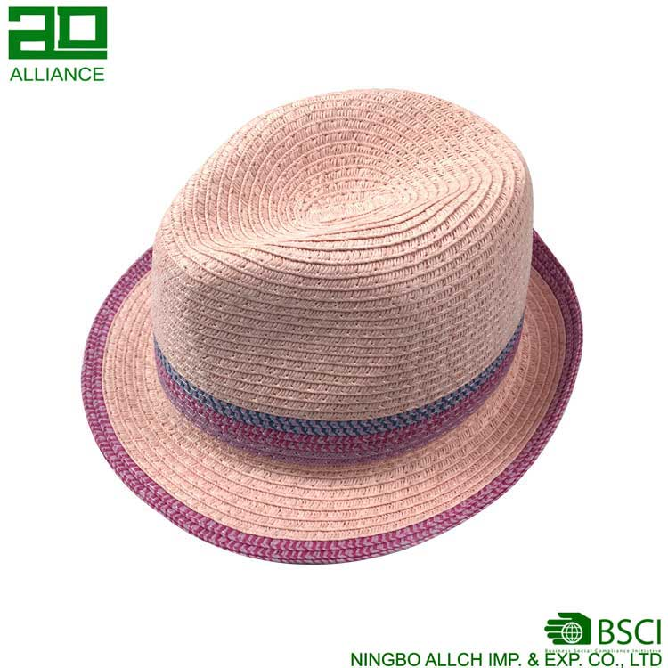 Multi color Straw Panama Retro Straw Beachside Fedoras Hat