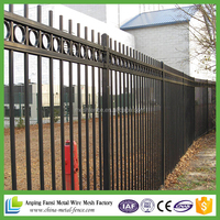 high quality 2.1m height ornamental iron fence china supplier