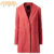 Latest Fashion Design Wool/ Polyester For Women Woolen Coat