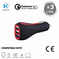 Alibaba hot sellers 27W 3 usb fast car charger qualcomm quick charge 3.0
