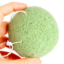 100% Natural Skin Care Pure Face Cleaning Sponge Green Tea Konjac Sponge