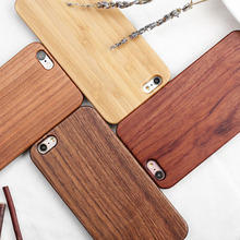 Simple Wood Bamboo PC Mobile Protective Mobile Phone Case For iphone 8 8plus 7 7plus 6 6plus 6s