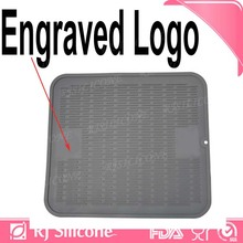 RJSILICONE black dish drying mat bar drying mat silicone drying mats for glasses/bowl