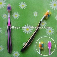 2014 high quality plastic adult black toothbrush