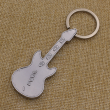 Promotion gifts zinc alloy mini guitar keychain guitar shaped key chain