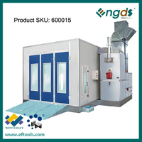 Commercial side downdraft automotive spray booth for sale