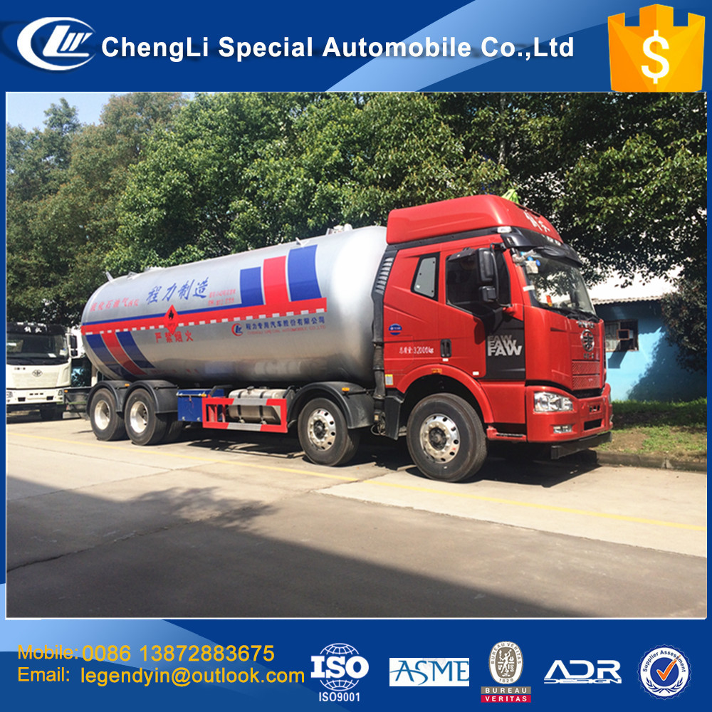 CLW high quality pressure vessel 8x4 12 wheel 37000L propane LPG transport tank truck for hot sale