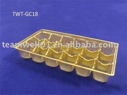 plastic chocolate tray(TWT-GC18 )