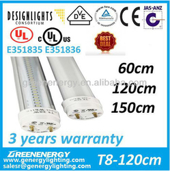 DLC UL CUL VDE TUV CE SAA listed 2014 new led LOW PRIE T8 tube light 4ft 1200mm milky cover