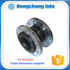 Single sphere or arch liquid rubber expansion joint.
