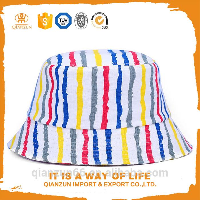 White cotton custom kids plain bucket hats bulk