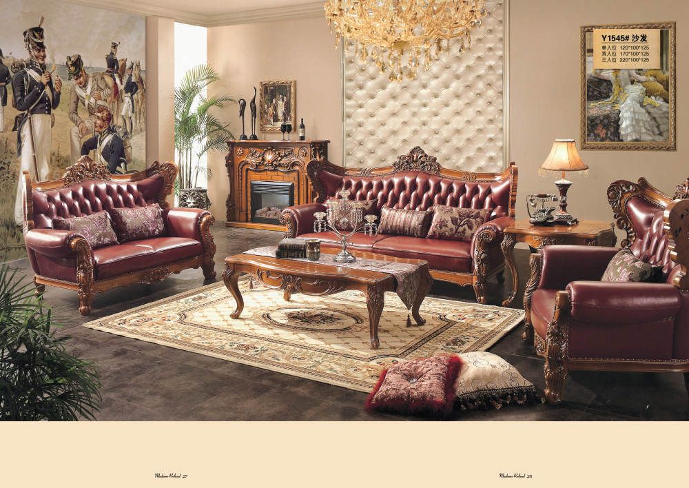 Chesterfield Sofa Royal Furniture Set Living Room Antique Sofa ...