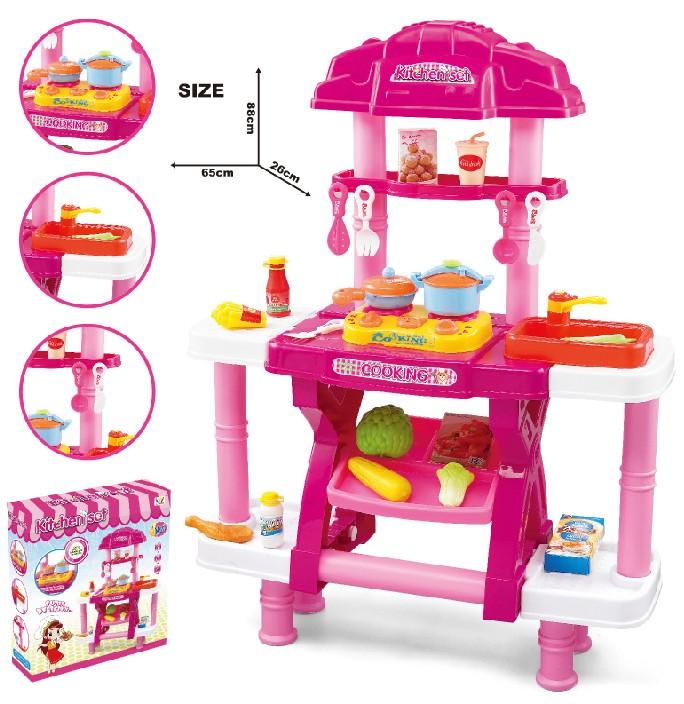 Pink Play Kitchen Set pink toys kitchen play set diy cooking children supermarket