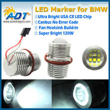 Canbus error free 120w USA CR led angel eye halo marker light bulbs white for bmw 1 5 6 7 X series