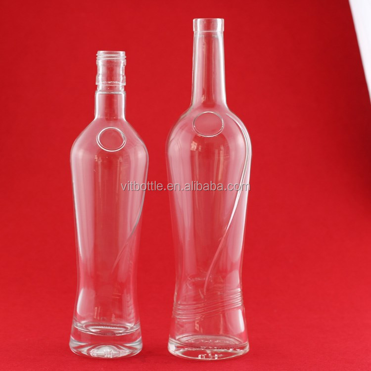 Sealing Superior White 500ml mojito glass spirit bottle glass bottles wholesale glass wine bottle
