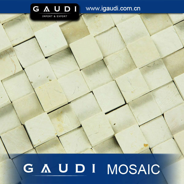 3D Natural Marble Mosaic Backsplash Floor and Wall Tile