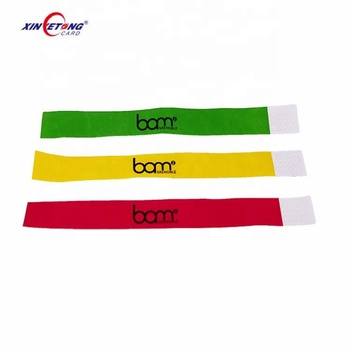 Durable Paper 213 Chip  NFC Bracelet Ticket / Printable Paper RFID NFC Wristband