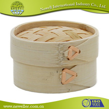 Food grade counter restaruant square bamboo steamers for your choice