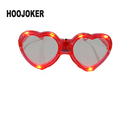 valentines day gifts wedding decoration Red Heart led glasses