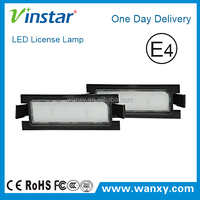 Direct Fit White LED License Plate Lights Lamps For Hyundai I30(I30 5D 2013~2014)