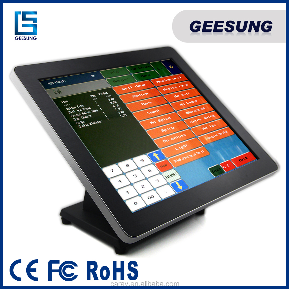 wireless pos terminal 15 inch pos material pos motherboard