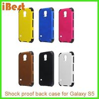 Wholesale PU/TPU hybrid case cover galaxy s5,combo case for samsung