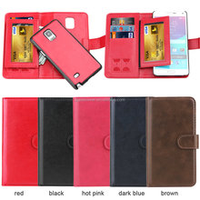 New Coming leather wallet phone case For Samsung Galaxy Note 4, Wallet Case with card slots for Samsung S4 i9500