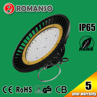IP65 meanwell driver out door led lighting 120-130Lm/W high bay 150W UFO led for car park lighting