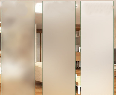 office partition wall acid etched glass