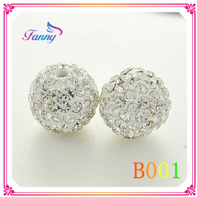 B001 Round Shape Rhinestone Beads, Shambhala Beads, Crystal Beads for Bracelets
