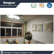 Fireproof Sound-Absorbing Popular 3d Foam Wallpaper 3d Foam Sticker Moisture-Proof Wall Panels Self Adhesive