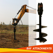 Low price rock drill auger for hydraulic soil digger