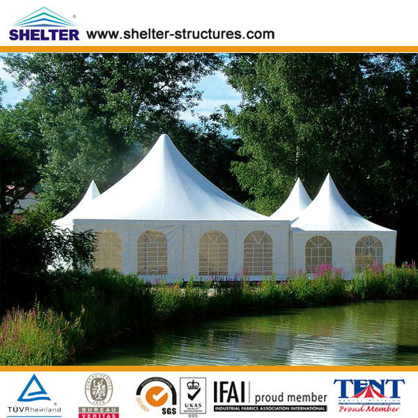 6x6 mtr portable wedding pagoda tents supplier in Guangzhou for sale