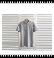 Men DIY Cheap Blank Gray Polo For T-Shirts
