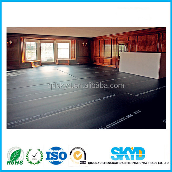 Corrugated plastic sheet for floor covering