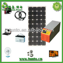 300w inverter 100w solar panel 80Ah battery solar home system,AC 220v 230v 240v