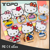 Wholesale 360 Degree cute popular kid love pc carton ring rotating Hello Kitty Finger phone holder for smartphone