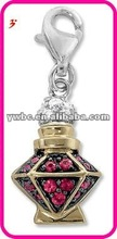 Alloy rhinestone colorful perfume bottle charm(183877)
