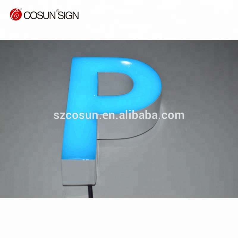 Waterproof and energy saving LED epoxy resin letters sign and logo
