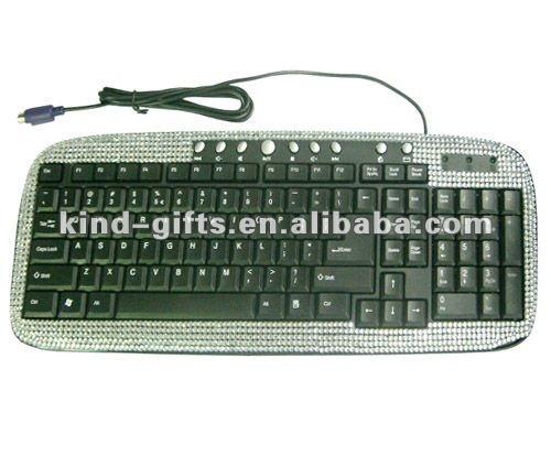 colorful shining crystal rhinestone gifts computer keyboard