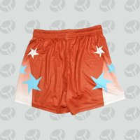 sublimation print womens running shorts