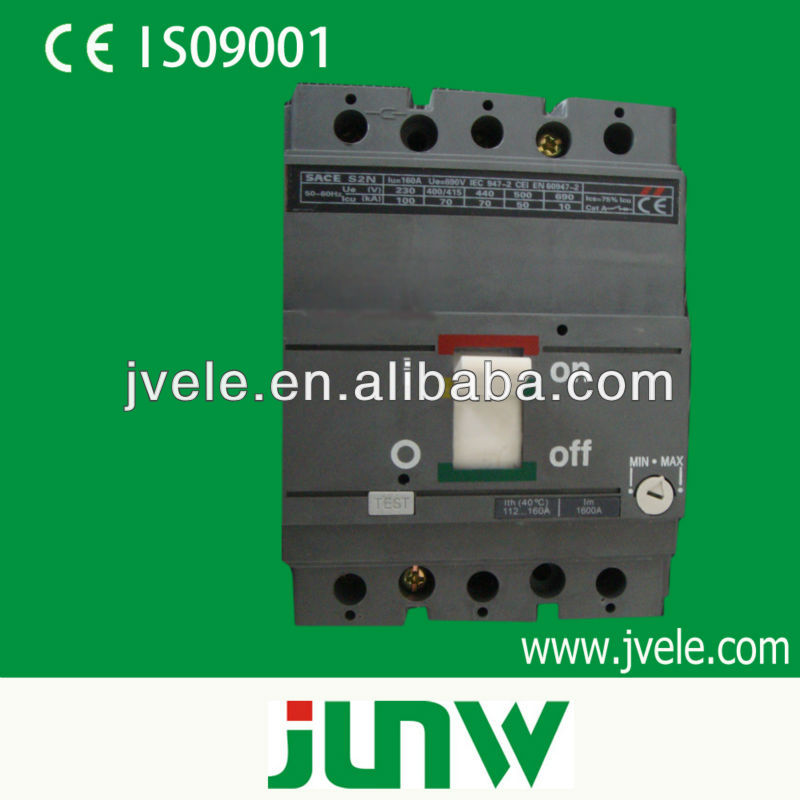 LV 3 phase 4 pole adjustable earth leakage circuit breaker