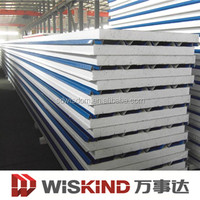 EPS /PU/Rock wool roof sandwich panel for steel structure
