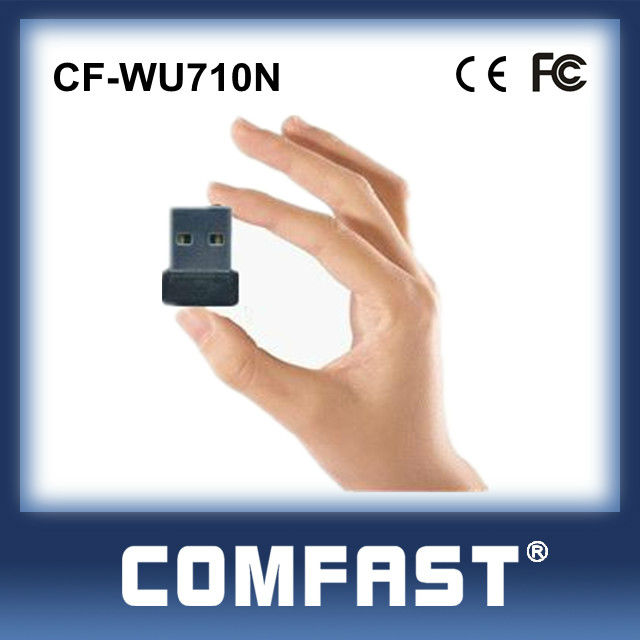 Mini Portable Wifi USB Network Card USB2.0 Adapter WLAN Card Wireledd USB Card COMFAST CF-WU710N