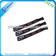 Christmas Gifts 2014 Branding Fabric Woven Festival Bracelet For Event and Party Giveaways